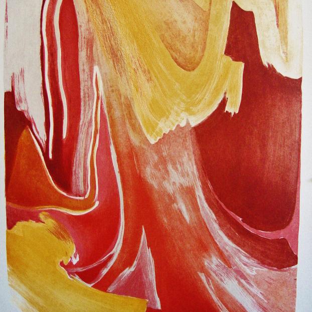 steendruk - geen titel 64 x 55 cm