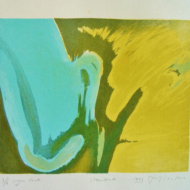steendruk - geen titel 18 x 22 cm