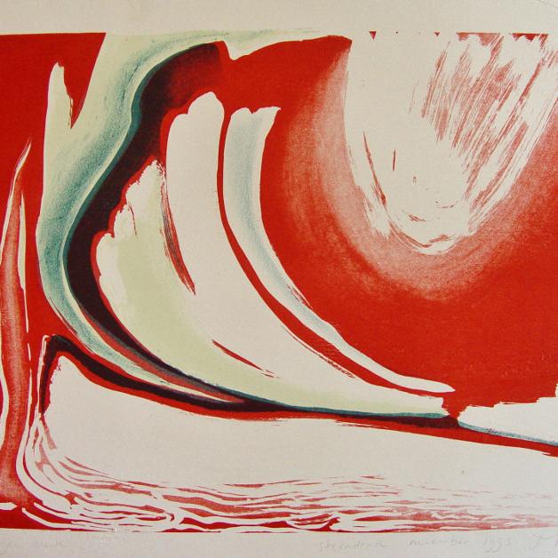 steendruk - geen titel 31 x 41 cm