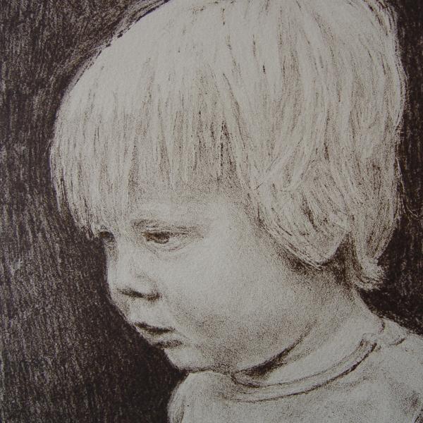 steendruk - Abe 28 x 19 cm - sepia