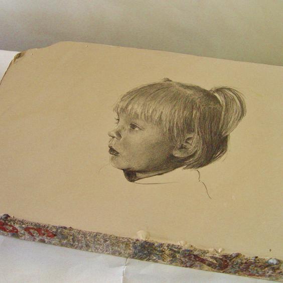 lithosteen portret 31 x 35 cm